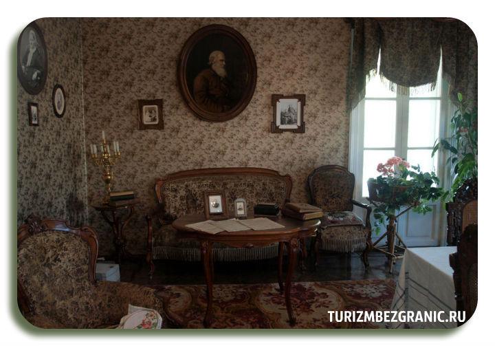Интерьер гостинной дома братьев Столетовых