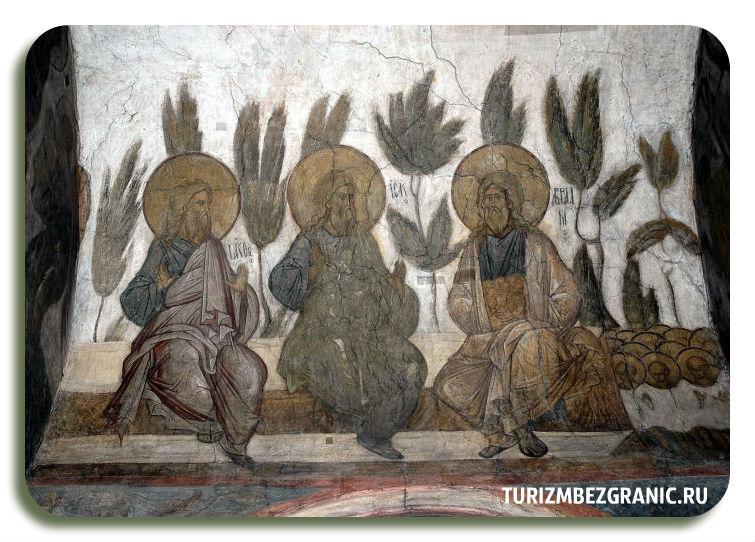 Фрески Андрея Рублёва Страшный суд Иаков Авраам и Исаак в раю