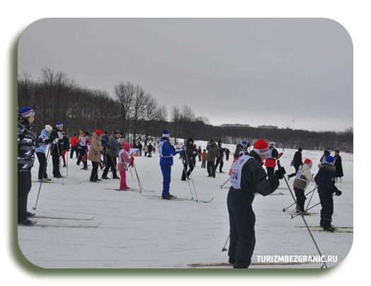 Спортивное соревнование Лыжня России 2013 в парке Дружба Владимир