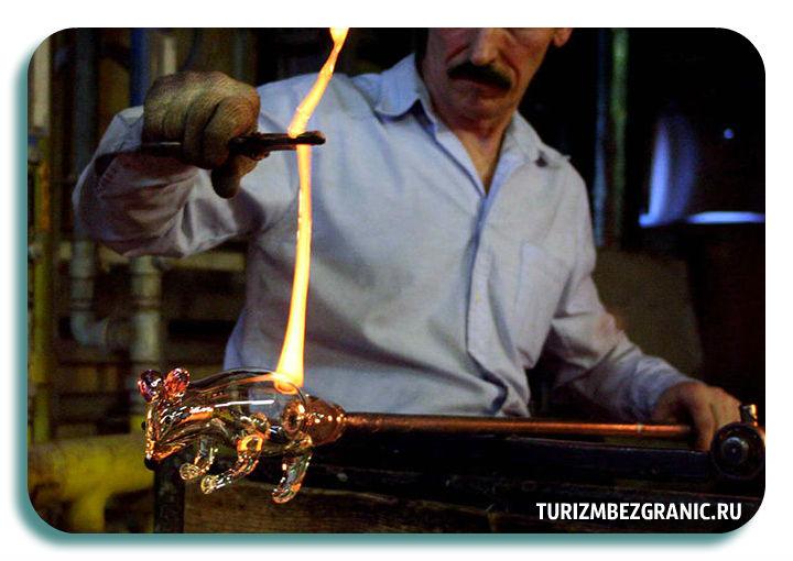 Процесс изготовления стеклянных и хрустальных изделий
