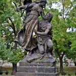 Скульптура Цтирад и Шарка в праге