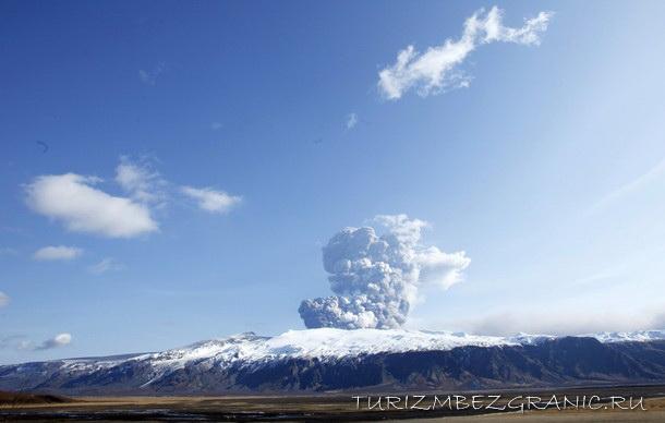 Извержение вулкана Эйятфьядлайокудль