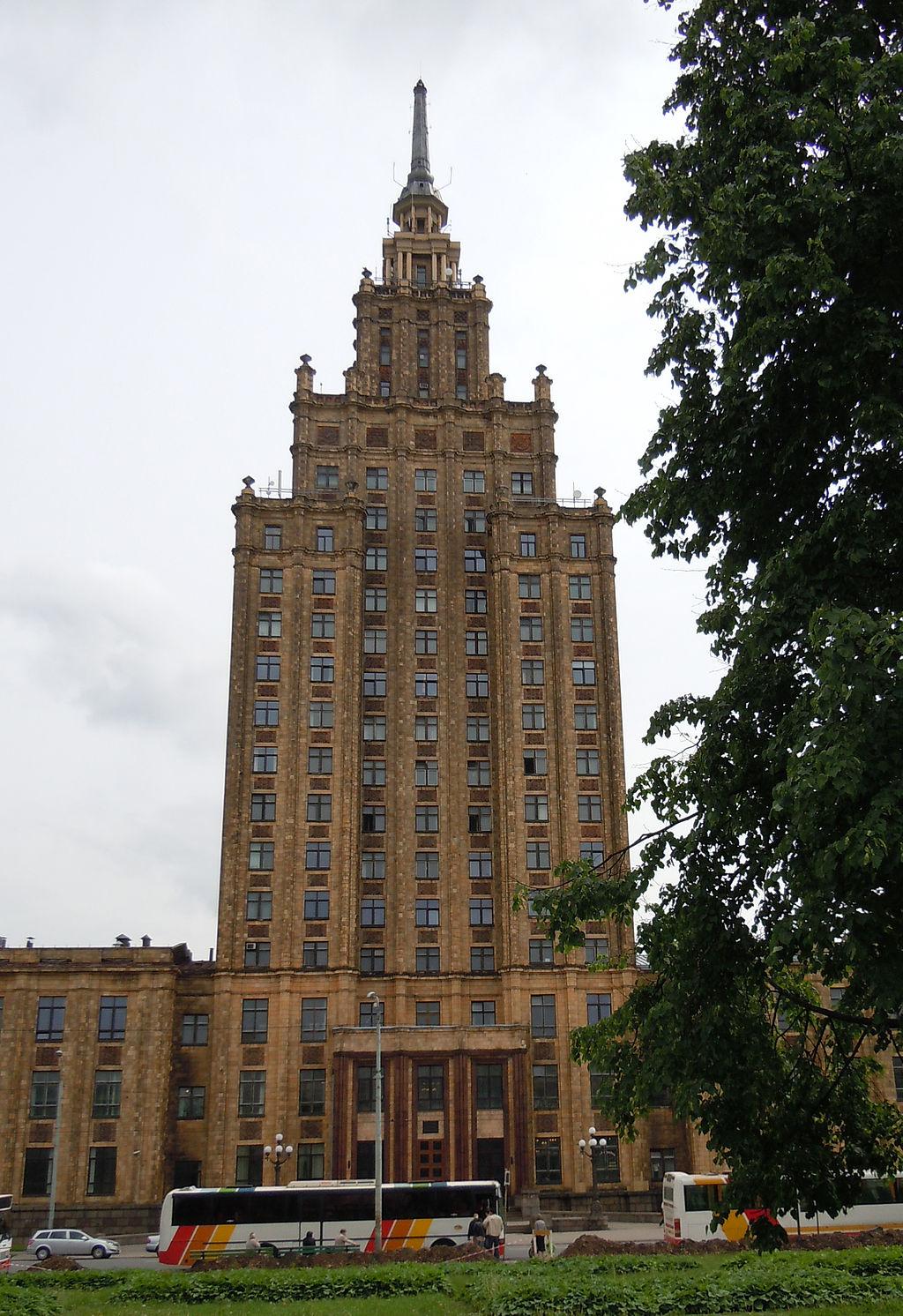 Здание академии наук Латвии