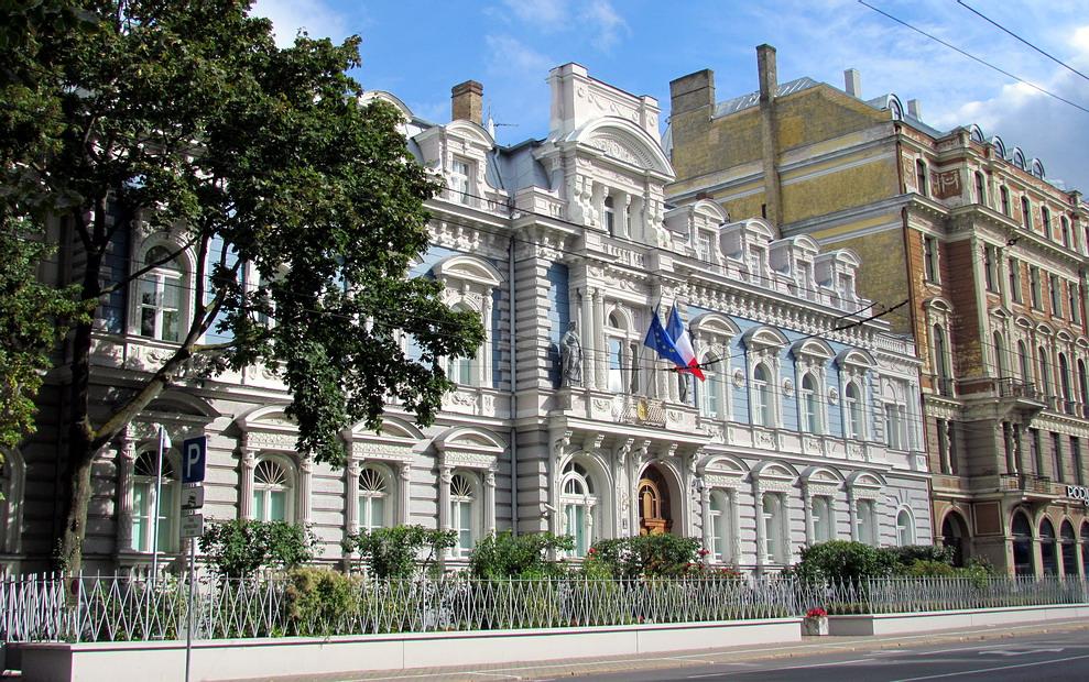 Здание посольства Франции в Риге