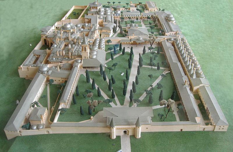 План дворца Топкапы в Стамбуле
