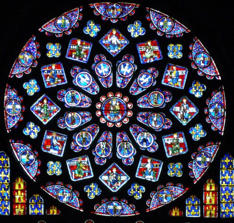 Витражи собора Нотр-Дам-де-Шартр